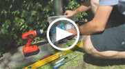 Installation of the Speedy downpipe filter