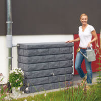 Rocky wall tank dark granite